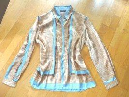 Bluse 44 aus glänzender Viskose Reptildruck