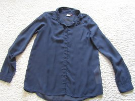 Be only Long Sleeve Blouse blue polyester