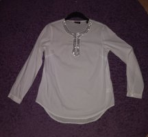 Woman by Tchibo Slip-over Blouse white-silver-colored