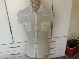 Authentic Short Sleeved Blouse white