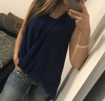 Apart Short Sleeved Blouse dark blue-blue