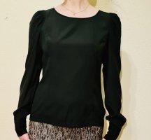 Hallhuber Blusa de seda negro