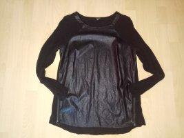 Blusa de cuero negro