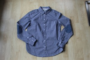 H&M L.O.G.G. Checked Blouse white-blue cotton