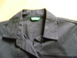 Bluse für Büro und Freizeit schwarz figurbetont Gr. 36 Kurzarm von Benetton