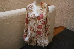 #Bluse, Gr. 40, #beige-rosa, #Exclusiv, #Blüten-/Raubtierprint, #leicht, #hochwertig, #Markenmode