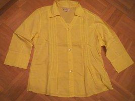 Bluse, Gr.42/M, wunderschön, gelb, 3/4 Arm