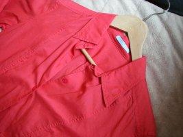 Bluse Hemdbluse elegant schlicht Strenesse Rot