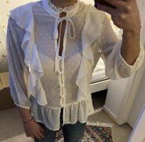 Bluse Hemdchen Chiffon Crop Bluse