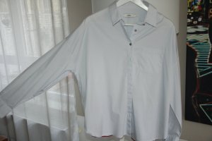 0039 Italy Oversized Blouse pale blue cotton