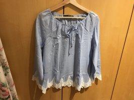 Bluse in Gr.36/S von Hallhuber in blau .