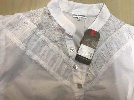 Stockerpoint Blusa in merletto bianco