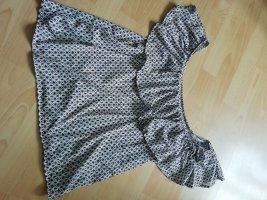 H&M Haut avec une épaule dénudée gris
