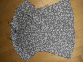 Bluse Kurzarm Marc O`Polo Gr. 38 Baumwolle taupe Blumenmuster