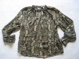 Bluse mit Bindebändern H&M neu gr. s 36 schlangenmuster