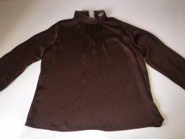 Bluse mit Rollkragen aus Satin