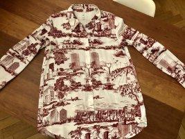 Bluse mit Stadtdesign, ZARA, superstylish, Größe M