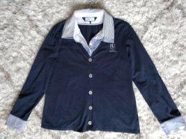 Otto Kern Long Sleeve Blouse dark blue cotton