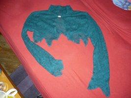 Top en maille crochet vert