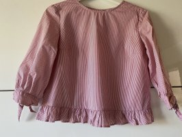 Ruffled Blouse white-red