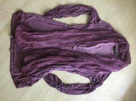 Schiffauer Blusa estilo Crash púrpura Licra