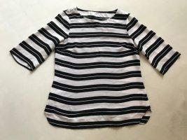 Bluse / Shirt, BANANA REPUBLIC, Schwarz-Weiß Gestreift, Gr. 34/36 *sehr gut*