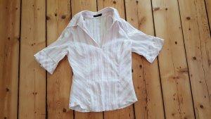 Bluse Shirt Tunika, weiß rosa rosé, casual look