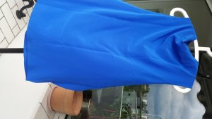 Caliban Sleeveless Blouse blue-neon blue silk