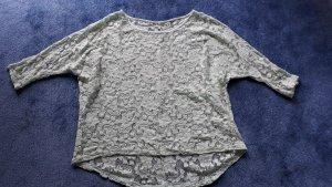 Bluse VILA mint transparent durchsichtig Gr. M/ L Spitze