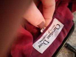 Christian Dior Blouse avec noeuds rouge carmin-rouge foncé tissu mixte