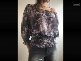 1982 Blouse transparente multicolore