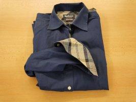 Barbour Long Sleeve Blouse dark blue cotton