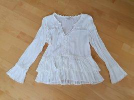 Cream Lace Blouse white