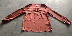 H&M Blusa brillante bermejo-rojo amarronado
