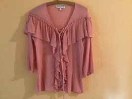 Jaune Rouge Tie-neck Blouse pink