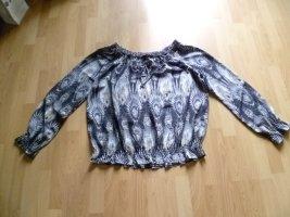 Bluse von NKD Gr.44 schwarz grau beige wie neu
