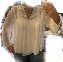 Zara Koronkowa bluzka biały