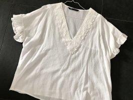Bluse von Zara in weiß