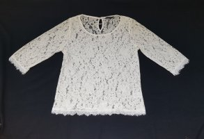 Lindex Lace Blouse white polyester