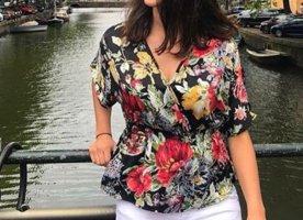 Monteau Los Angeles Wraparound Blouse multicolored