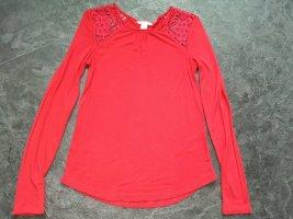 H&M Blouse Shirt brick red viscose