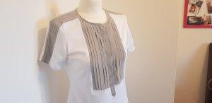 van Laack Blouse Shirt white-grey cotton