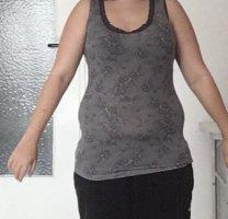 Body by Tschibo Blusa in merletto nero-grigio