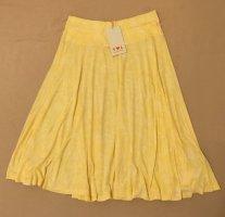 Blutsgeschwister Flared Skirt pale yellow-yellow modal fibre