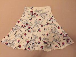 Blutsgeschwister Flared Skirt natural white viscose