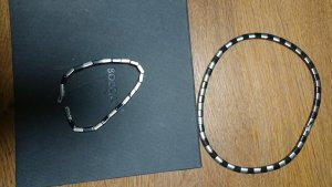 Boccia Catenina nero-argento