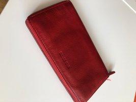 Ohne Wallet dark red leather