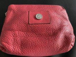 Bogner Makeup Bag dark red leather