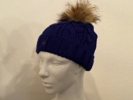 Bogner Cappello a maglia blu Acrilico