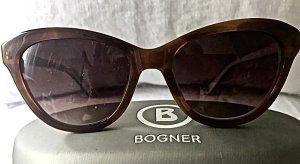 Bogner Gafas mariposa marrón oscuro-crema